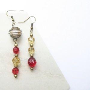 Mix Match Beaded Dangle earrings